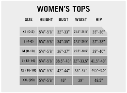 Women S Clothing Size Chart By Height And Weight Size Charts