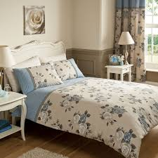 Fabulous Bedroom Quilts And Curtains Also Rose Bouquet Bedding Picture On  Stunning Curtain Sets For Complete Set In Blue Beige Color Based Gallery  Images ...