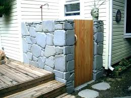 outdoor shower stall enclosure ideas simple i