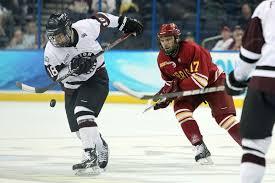 ncaa hockey tour nt max novak scores pretty goal for union kim klement us presswire