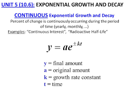 continuous exponential growth and decay