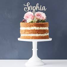 Personalised Wooden Cake Topper