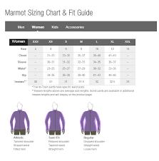 Marmot Womens Size Chart Jpg