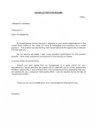 Resume Cover Letter Email Attachment Cover Letter
