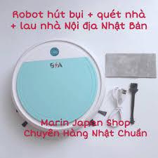 Nội Địa Nhật Bản,4 tác dụng)Robot máy hút bụi + lau nhà + quét nhà + khử  trùng , 4 tác dụng trong 1 Full phụ kiện