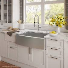 handmade series 29 75 x 20 75 farmhouse kitchen sink with faucet and soap dispenser