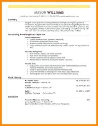 Finance Resume Examples From Sample Resume Accounting Example Resume
