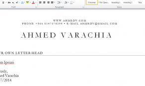 Personal Letter Head Ahmed Varachia Ahmed Varachia