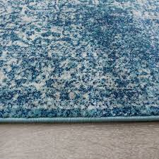 new modern traditional duck egg blue runner faded vintage long narrow hall rugs 6