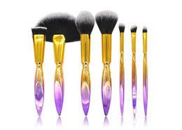 7pcs mermaid series makeup brush set quicksand crystal cosmetics brushes powder eyeshadow foundation make up tool drop shipping good quality