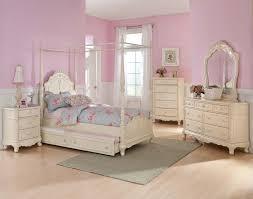 Homelegance Cinderella Full White 5pc Canopy Bedroom Set