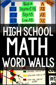 Classroom Decoration Charts For High School High School Math Word Wall Ideas Math Word Walls 10th