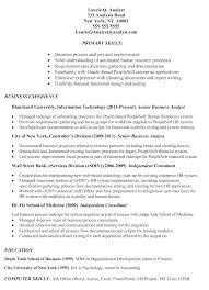 Sample Resume Business Analyst Business Analyst Resume Sample