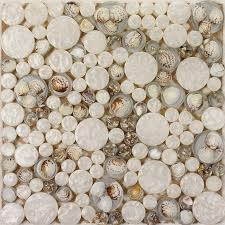 white mosaic tile resin glass conch tile backsplash penny round designs bathroom tiles for wall backsplashes 3003