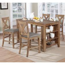 Shop Delrio Rustic Weathered Natural 5 Piece Kitchen Island Set By