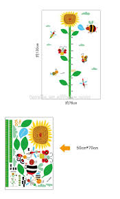 Sunflower Childrens Height Decorative Wall Sticker Kindergarten Height Growth Chart Kids Diy Sticker Rooms Home Decor Buy 3d Wall Stickers Home