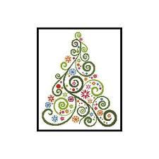 Christmas Cross Stitch Charts Abstract Christmas Tree Counted Cross Stitch Chart