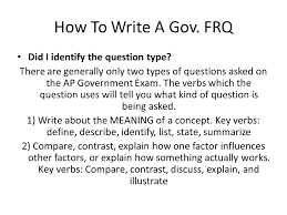 the ap exam ppt video online  how to write a gov frq did i identify the question type