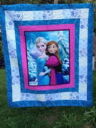 Best 25+ Frozen quilt ideas on Pinterest   Snowflake quilt, Baby ... & Childs Elsa and Anna Quilt 58 X 66 inches Beautiful panel quilt surrounded  by snowflake fabric Adamdwight.com