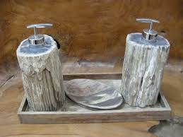 Wooden Bathroom Accessories Set Petrified Wood Bathroom Accessories Indogemstone