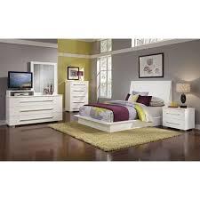 Dimora Media Dresser and Mirror - White | Value City Furniture and ...