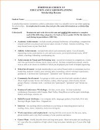 10 Resume For Scholarship Sample Paradochart