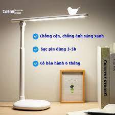 Đèn Học Để Bàn Tích Điện Bóng Đèn LED Chống Cận Hiệu Quả, Đèn Đọc Sách Cho  Bé Học Sinh Điều Chỉnh Được Độ Sáng - Đèn bàn