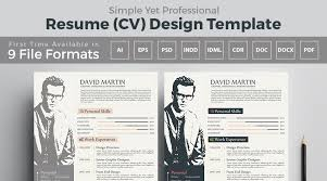 Cv Design Template Resume Design One Dollar Graphics