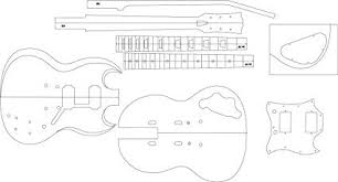 Sg Template Amazon Com Electric Guitar Routing Template Sg Musical Instruments