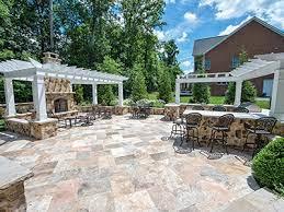 outdoor living area design build