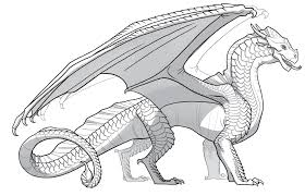 Simple Dragon Coloring Pages For Kids With Spotlight Wings Of Fire