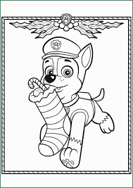 Paw Patrol Christmas Coloring Pages Fabulous Chase Paw Patrol