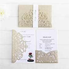 Glittery Invitation Anniversaire Card With Rsvp Insert Belly