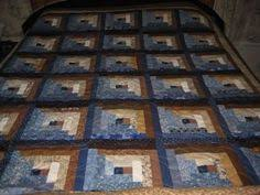 Warm and Captivating Log Cabin Quilt in Red Blue by MOMSOBSESSION ... & Warm and Captivating Log Cabin Quilt in Red Blue by MOMSOBSESSION | Grand  baby crafts | Pinterest | Log cabin quilts, Log cabins and Cabin Adamdwight.com