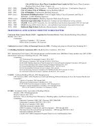 resume building inspector resume