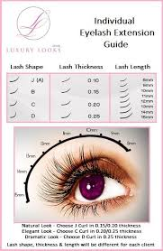 Fake Eyelash Size Chart Eyelash Extension Guide Pesquisa Google Eyelash