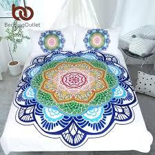 mandala bedding set king size bohemian bed for s flower print duvet cover sets