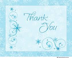 snowflake thank you cards blue snowfall thank you card icy soft snowflakes