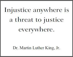martin luther king jr quotes injustice anywhere is a threat to  crabtree fantasy