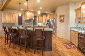 Brasada Ranch Home Design 2 Story with Open Loft Rustic Kitchen
