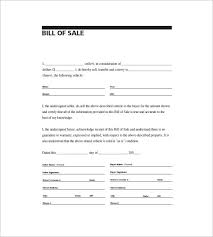 vehicle bill of sale as is 6 automobile bill of sale free sample example format download