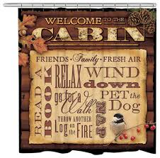put your guests in the mood to relax with the welcome to the cabin