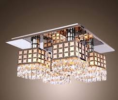 4 light crystal chandelier supplies ceiling light crystal flush mount light fixture modern stainless steel chandelier