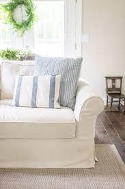 pb comfort slipcovered pottery barn sofa review