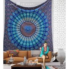 indian hippy mandala wall tapestry bohemian queen size hanging dorm decor bedroom bedspread