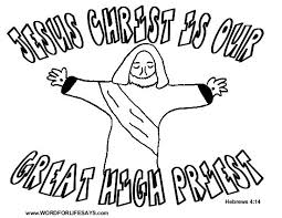 High priest book pages printable coloring line art coloring books memes how to make download or print this amazing coloring page: Jesus The Great High Priest Coloring Page 001 Christ The King