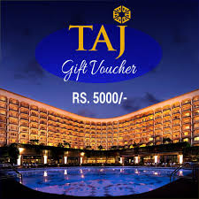 send taj gift voucher for rs 5000 to india send rakhi to india send gift vouchers to india