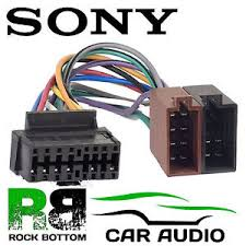 sony cdx gt car radio stereo pin wiring harness loom iso lead image is loading sony cdx gt25 car radio stereo 16 pin