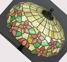 glass lamp shades vintage antique 7