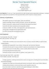 Passport Specialist Sample Resume Inspiration Sample Travel Specialist Resume Resame Pinterest